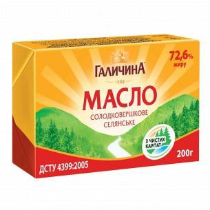 Масло сладкосливочное Галичина 72,6%