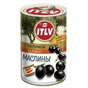Оливки ITLV черные с косточкой