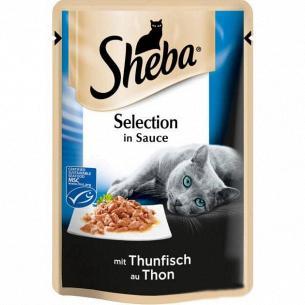 Корм для котов Sheba Black&Gold с тунцом в соусе