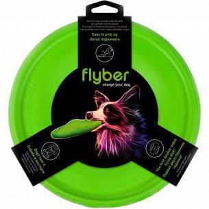 Летающая тарелка Flyber двухсторонняя, диаметр 22см, цвет салатовый