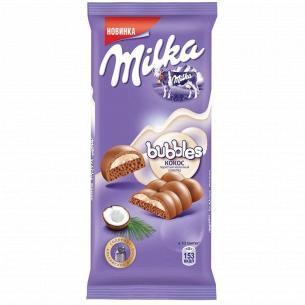 Шоколад молочный Milka Bubbels пористый с кокосом