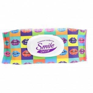 Салфетки влажные Smile Decor color mix с клапаном