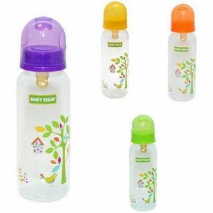 Бутылочка BabyTeam эргон формы с силиконовой соской 250мл 0+