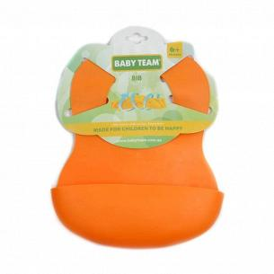 Нагрудник Baby Team (резиновый) 6500