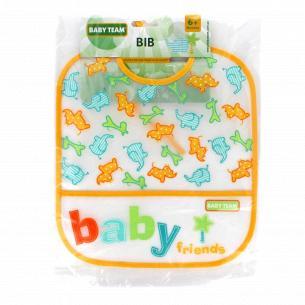 Нагрудник Baby Team влагонепроницаемый 6503