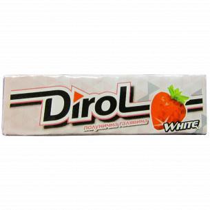 Резинка жевательная Dirol White клубника