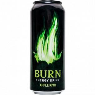 Напиток энергетический Burn Apple Kivi безалкогольный ж/б