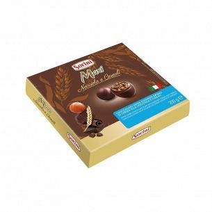 Конфеты Sorini Макси из черного шоколада и злаками