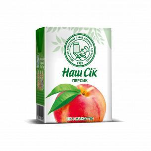 Сок Наш Сік персиковый