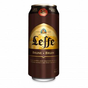 Пиво Leffe Brune темное ж/б