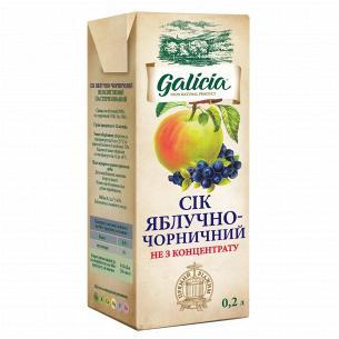 Сок Galicia яблочно-черничный неосветленный