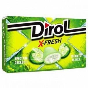 Резинка жевательная Dirol X-Fresh свежесть яблока