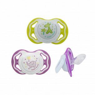 Пустышка Baby Team ортодонтическая силикон 6+ 3011