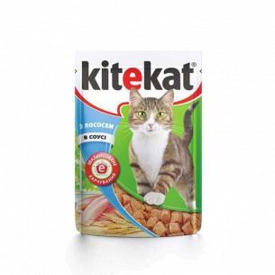 Корм для котов Kitekat с лососем в соусе