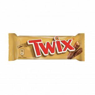 Батончик Twix с печеньем и карамелью в молочном шоколаде