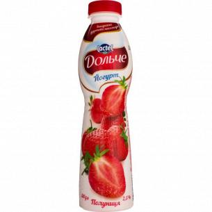 Йогурт Дольче с наполнителем клубника 2,5% бут