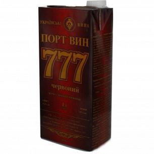 Вермут Одеський ЗКВ Порт Вин 777 красный крепкий