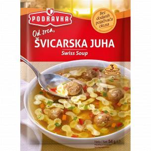 Суп Podravka по-швейцарски мясной