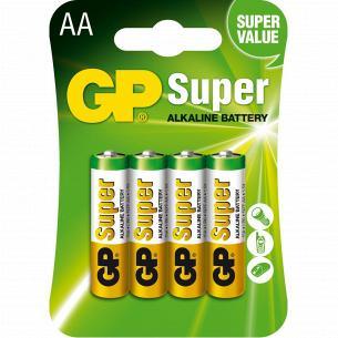 Батарейки GP SUPER 15A-U4шт, АА