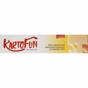 Чипсы KartoFun картоф пластин волнистые вкус сыра