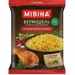 Вермишель Мівіна вкус кур/бул с овощ зелень острый