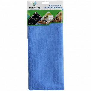 Салфетка Sapfire универсал микрофибра синяя 35*40