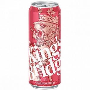 Напиток слабоалк King`s Bridge Джин-грейпфрут ж/б