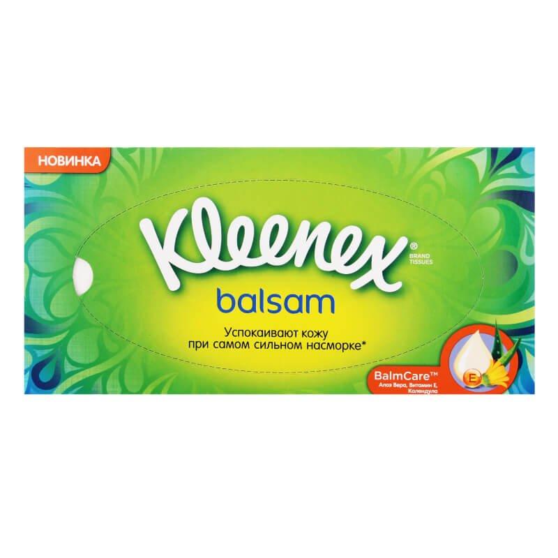 Салфетки бумажные Kleenex balsam