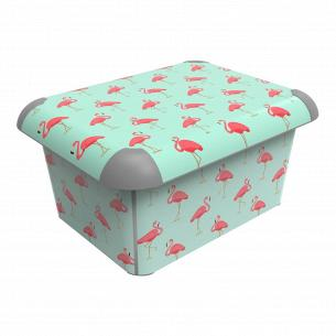 Ящик для хранения Rotho Flamingos 15л