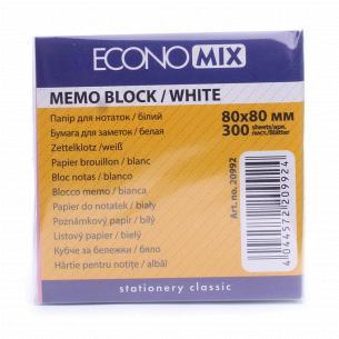Бумага для заметок Economix 80х80мм 300л