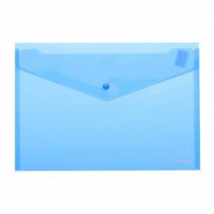 Папка-конверт А4 прозрачная на кнопке
