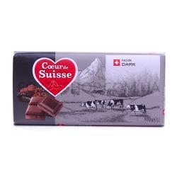Шоколад черный Coeur de Suisse