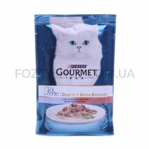 Корм для котов Gourmet Perle телятина-утка