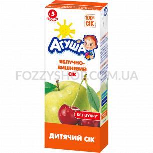 Сок Агуша яблоко-вишня осветленный 0%