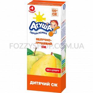 Сок Агуша яблоко-груша осветленный 0%