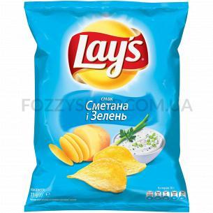 Чипсы Lay`s картофельные со вкусом сметаны и зелени 71г