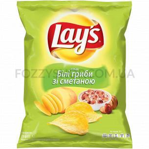 Чипсы Lay`s картофельные со вкусом белых грибов со сметаной 71г