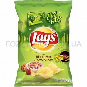 Чипсы Lay`s картофельные со вкусом белых грибов со сметаной 133г