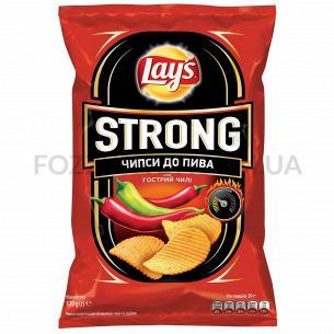 Чипсы Lay`s Strong картофельные к пиву со вкусом чили и лайма 120г