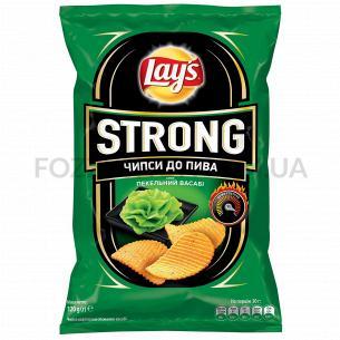 Чипсы Lay`s Strong картофельные к пиву со вкусом васаби 120г