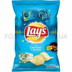 Чипсы Lay`s Рифленые картофельные со вкусом сметаны и лука 133г