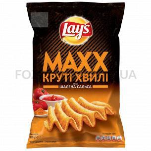Чипсы Lay`s Maxx картофельные со вкусом безумной сальсы 120г