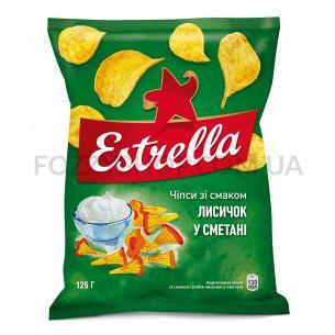 Чипсы Estrella со вкусом лисичек в сметане