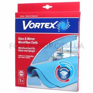 Салфетка для стекла и зеркал Vortex микрофибра