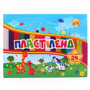 Пластилин Тетрада Липладия/Пластиленд 24цв