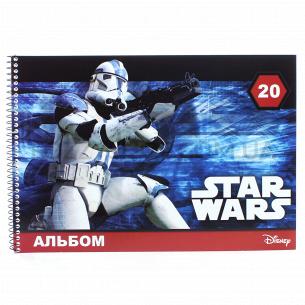 Альбом для рисования Ранок Star Wars пружина 20лис