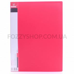 Папка-скоросшиватель Norma А4 с карманом крас 5032