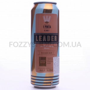 Пиво Leader світле з/б