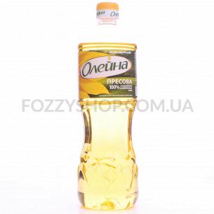 Масло подсолнечное Олейна Пресовая рафинирован