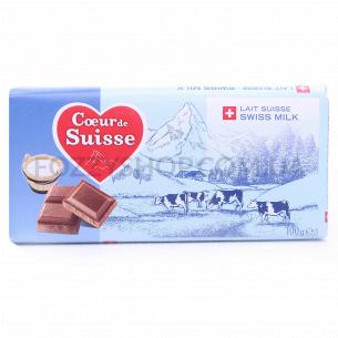 Шоколад молочный Coeur de Suisse